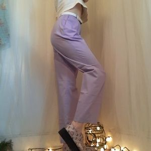 Vtg Lilac High Waist Pleated Pants. Paper Bag type